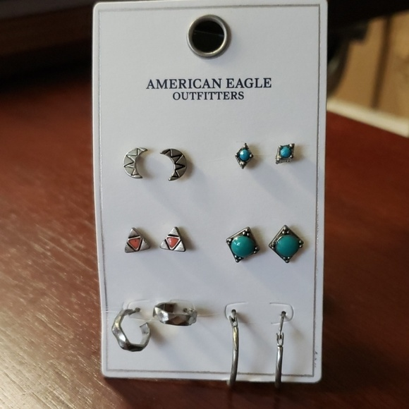 456762d953 American Eagle Outfitters Jewelry   Aeo American Eagle 6 Pairs ...